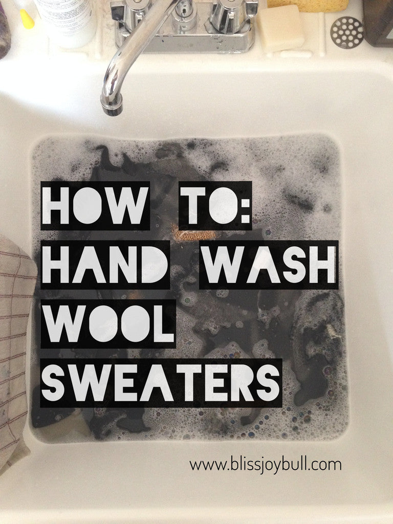 I'm a Hand Washing Convert or How To Hand Wash Wool Sweaters