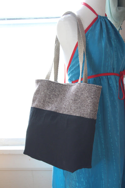 Canvas & Tweed Tote Bag -  - Bag - Bliss Joy Bull - 5