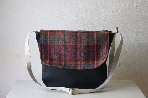 Messenger Cross Body Bag in Plaid - Multiple Color Options -  - Bag - Bliss Joy Bull - 1