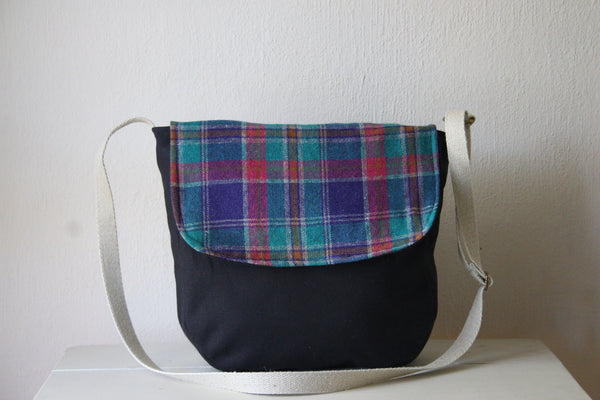 Messenger Cross Body Bag in Plaid - Multiple Color Options -  - Bag - Bliss Joy Bull - 6
