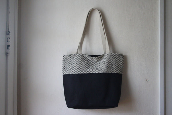 Canvas & Tweed Tote Bag -  - Bag - Bliss Joy Bull - 3