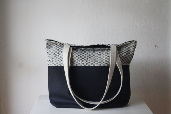 Canvas & Tweed Tote Bag -  - Bag - Bliss Joy Bull - 1