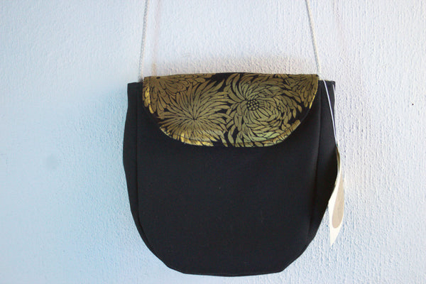Mini Cross Body Purse in Gold Floral -  - Bag - Bliss Joy Bull - 1