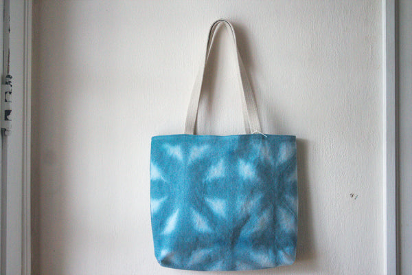 Hemp Canvas Tote Bag - Hand Dyed Blue 1002 -  - Bag - Bliss Joy Bull - 3