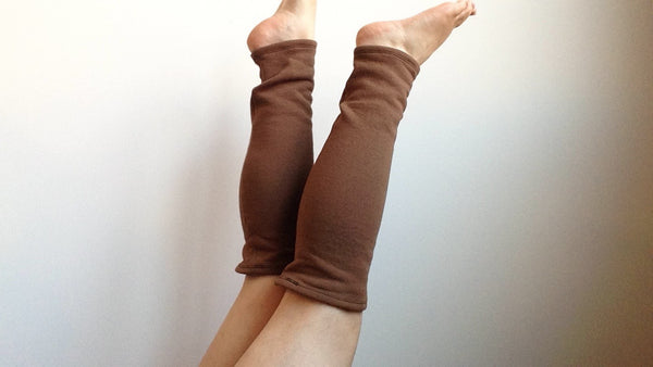 Organic Leg Warmers Fleece - Brown -  - Leggings + leg warmers - Bliss Joy Bull - 3