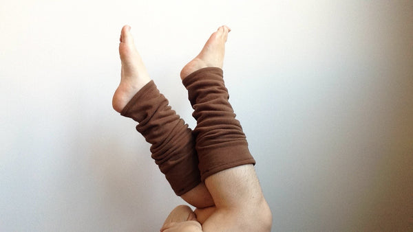 Organic Leg Warmers Fleece - Brown -  - Leggings + leg warmers - Bliss Joy Bull - 1