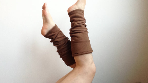 Organic Leg Warmers Fleece - Brown -  - Leggings + leg warmers - Bliss Joy Bull - 5