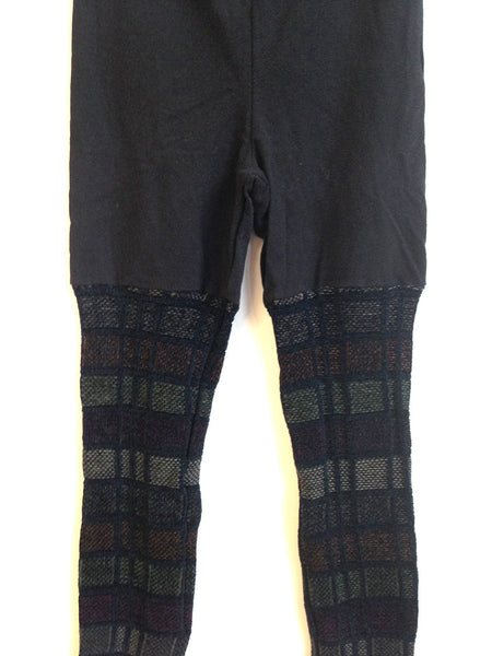 Sweater Leggings - Faux Thigh High - Muted Geometric -  - Leggings + leg warmers - Bliss Joy Bull - 3