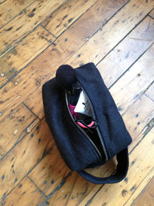 Small Waxed Canvas Toiletry Bag Dopp Kit -  - Bag - Bliss Joy Bull - 5