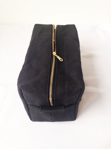 Large Waxed Canvas Toiletry Bag Dopp Kit