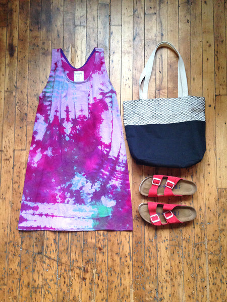 Hand Dyed Cotton Tank Dress -  - Handmade Dress - Bliss Joy Bull - 1