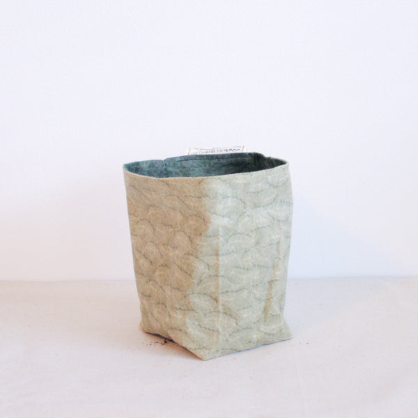 Waxed Canvas Plant Holder - Greens 001