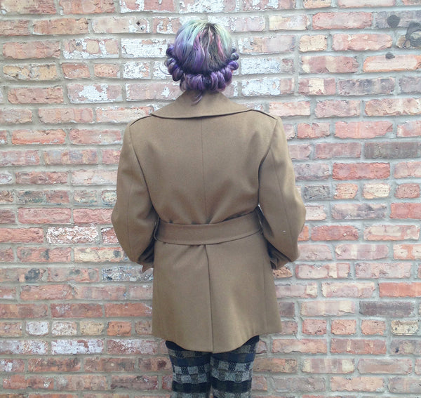 Vintage Olive Green Military Jacket -  - Vintage - Bliss Joy Bull - 3