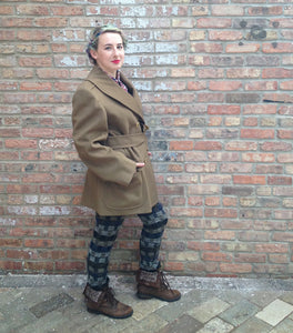 Vintage Olive Green Military Jacket -  - Vintage - Bliss Joy Bull - 4