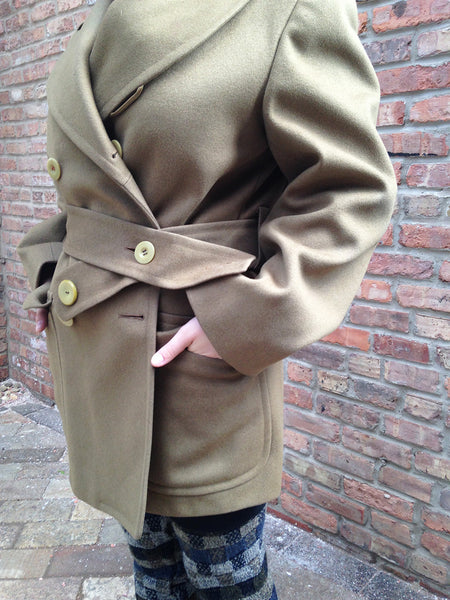 Vintage Olive Green Military Jacket -  - Vintage - Bliss Joy Bull - 5