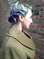 Load image into Gallery viewer, Vintage Olive Green Military Jacket -  - Vintage - Bliss Joy Bull - 2