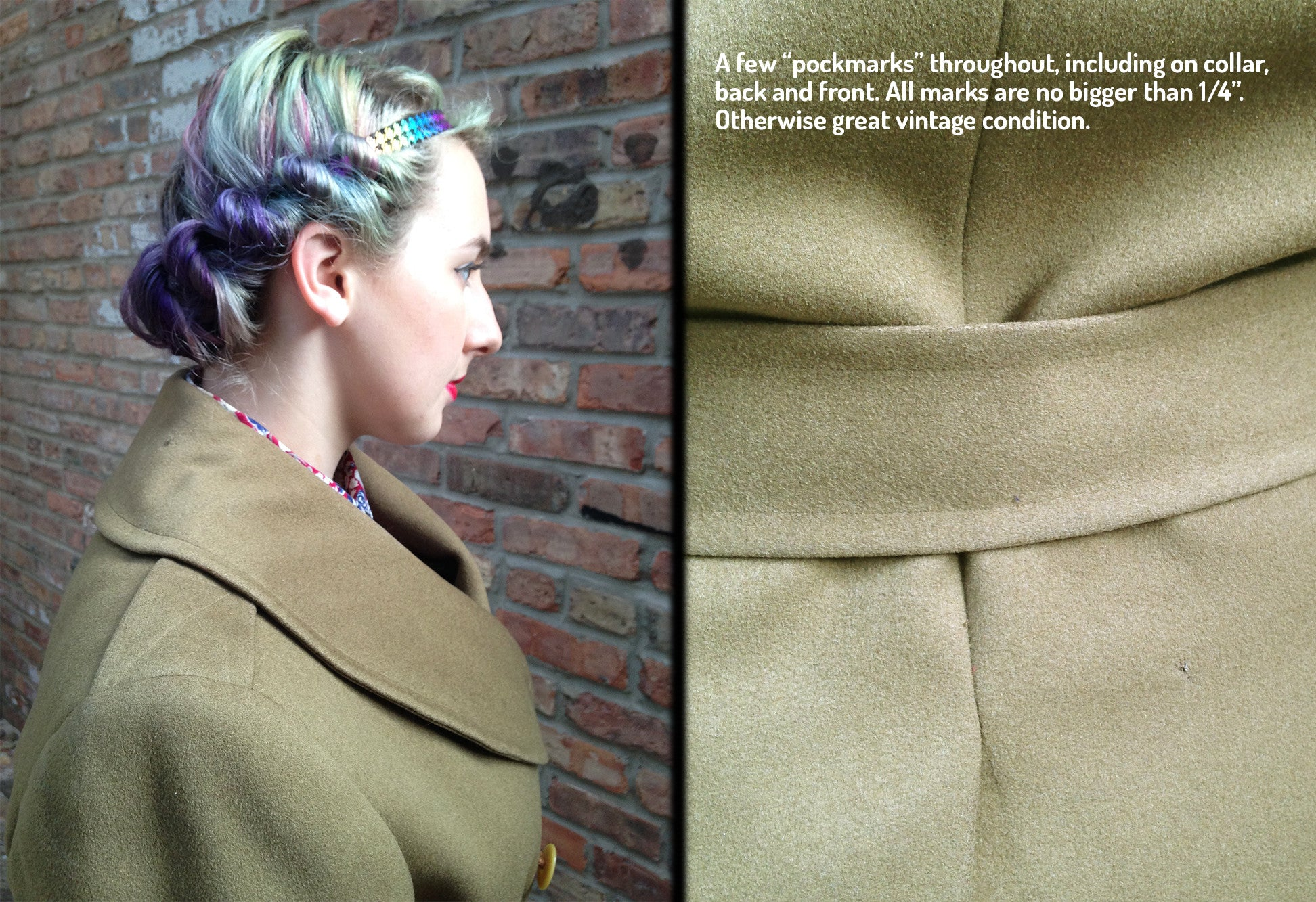 Vintage Olive Green Military Jacket -  - Vintage - Bliss Joy Bull - 6