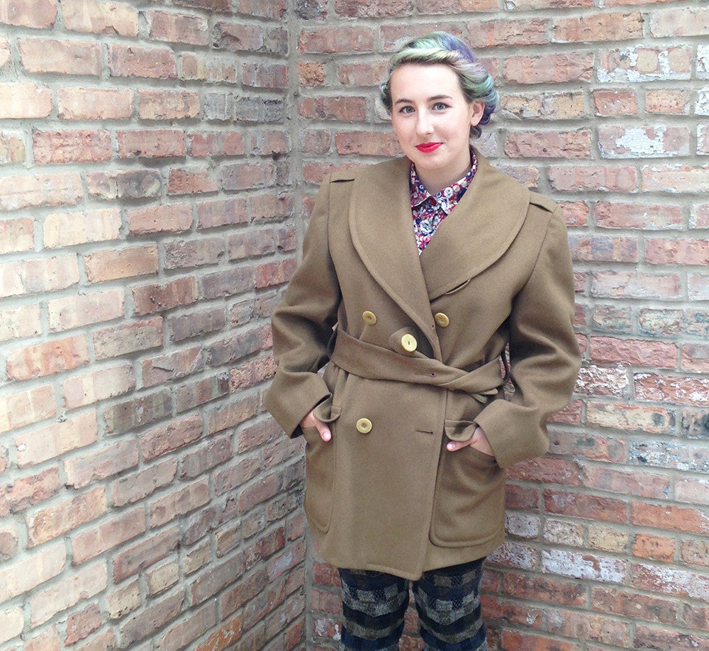 Vintage Olive Green Military Jacket -  - Vintage - Bliss Joy Bull - 7