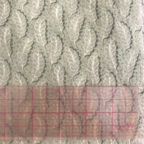 Waxed Cotton Fabric - Sage Leaves