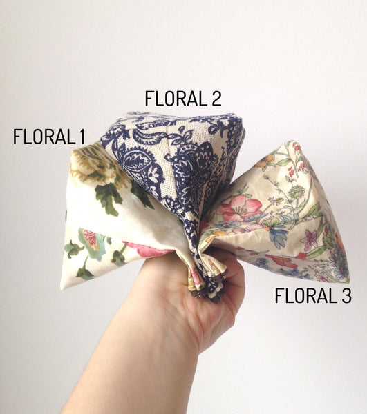Medium or Large Waxed Makeup Bag: Floral -  - Bag - Bliss Joy Bull - 3