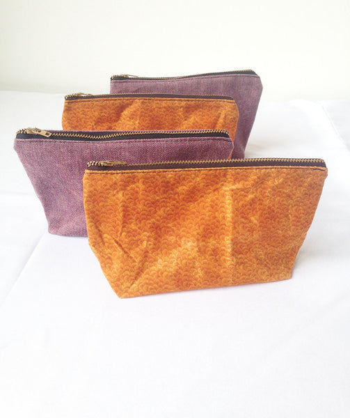 Small Waxed Makeup Bag -  - Bag - Bliss Joy Bull - 1