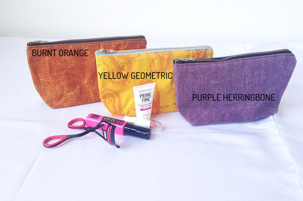 Small Waxed Makeup Bags -  - Bag - Bliss Joy Bull - 2