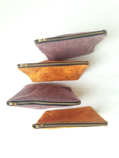 Small Waxed Makeup Bags -  - Bag - Bliss Joy Bull - 3