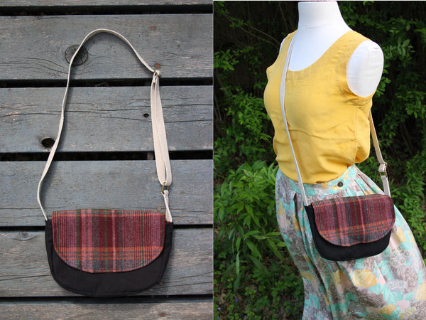 Mini Messenger Plaid Cross Body Bag - Multiple Color Options -  - Bag - Bliss Joy Bull - 1