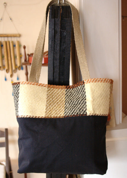 Waxed Canvas & Plaid Tote Bag -  - Bag - Bliss Joy Bull - 5