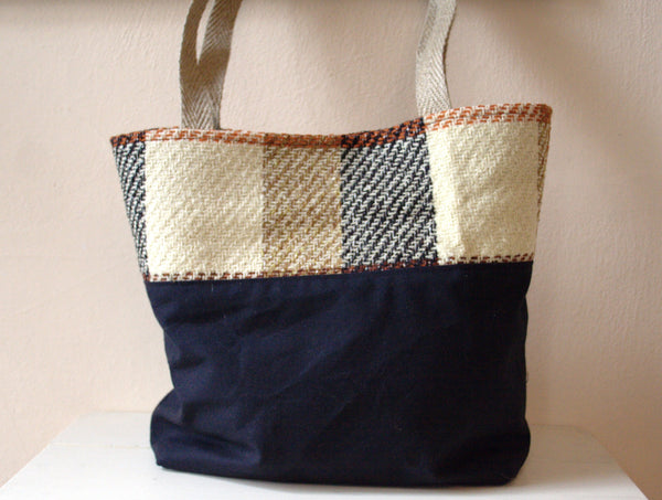 Waxed Canvas & Plaid Tote Bag -  - Bag - Bliss Joy Bull - 4