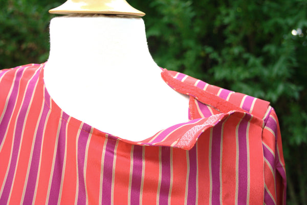 Vintage Striped Dress in Red, Purple, and Gold -  - Vintage Dress - Bliss Joy Bull - 5