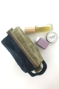 Small Waxed Canvas Toiletry Bag Dopp Kit