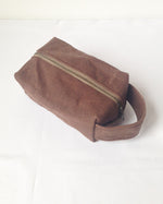 Load image into Gallery viewer, Small Waxed Canvas Toiletry Bag Dopp Kit