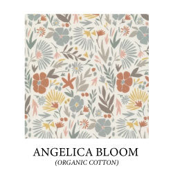 (angelica bloom) muted colored flowers on cream background