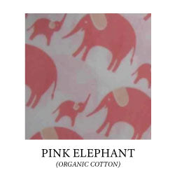 mom and baby pink geometric elephants print on white background