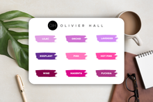 Load Image Into Gallery Viewer, Passion Planner Time Block Stickers - Solid Color