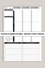 Load Image Into Gallery Viewer, Passion Planner Timeline Stickers - Abstract Pattern