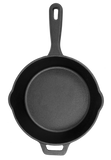 "12"" Cast Iron Deep Skillet with Lid"
