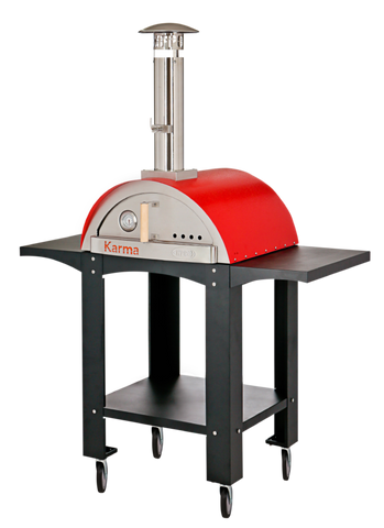 "Karma 25"" Red Pizza Oven with Stand"