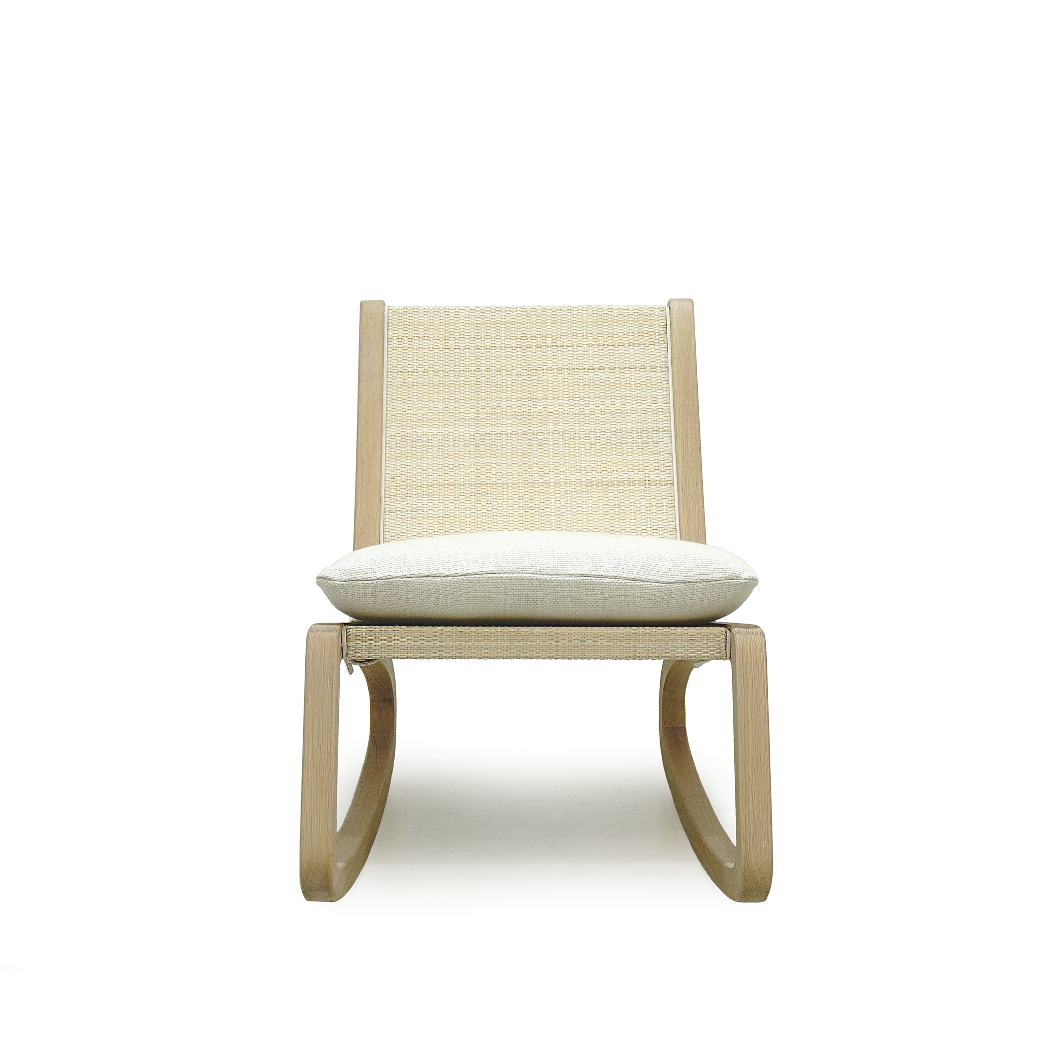 Shown in Natural Cane, cushion in Monte Natural