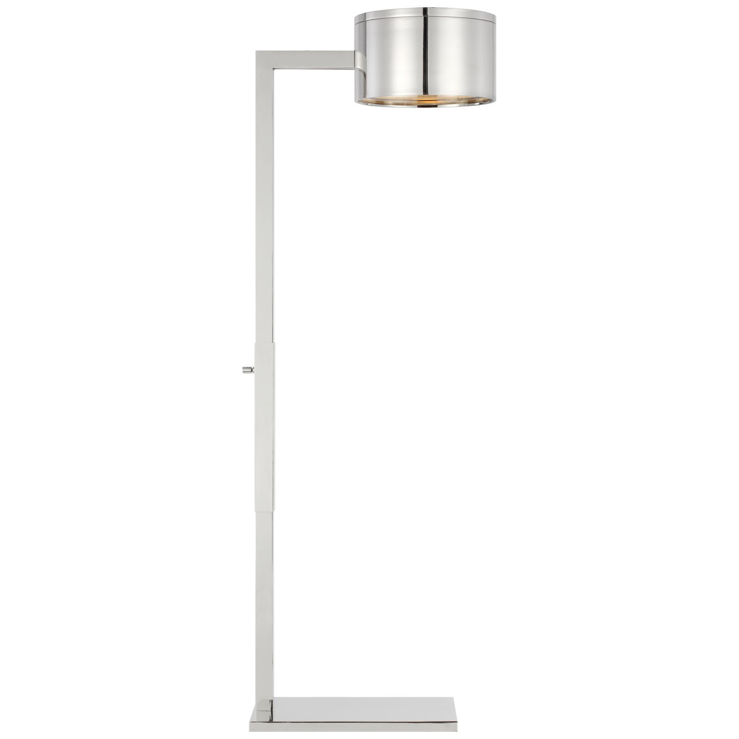 Floor Loch Polished Nickel/Frosted Glass Lamp