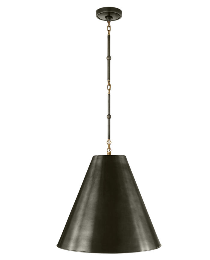 Shown in Bronze and Antique Brass with Bronze Shade