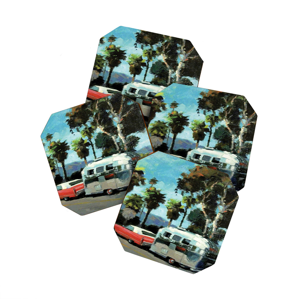 Santa Barbara Airstream Coaster Set