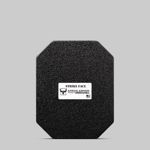 "AR500 Armor® Lightweight Level III+ Square Back Plate - 10""x12"" - Build Up Coat"