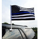 Thin Blue Line Car Flag