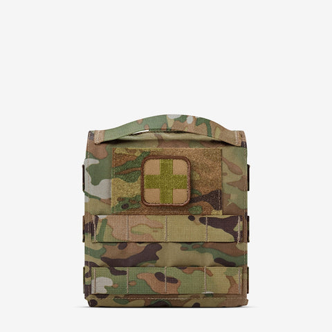 AR500 Armor® Quick Detachment and Deployable IFAK (QD IFAK) Pouch - Multicam