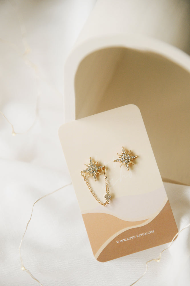 Sparkly Mismatched Earrings (S925)