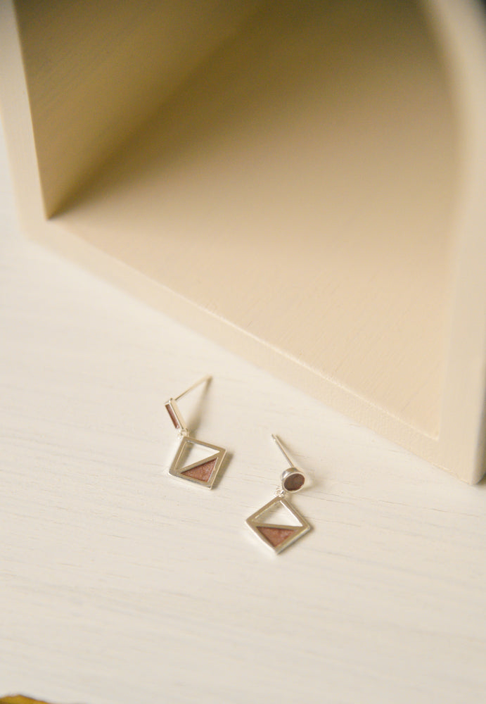 Nordic Mismatched Earrings (S925)