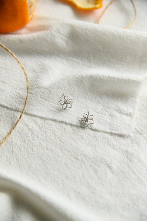 Posy Studs in silver