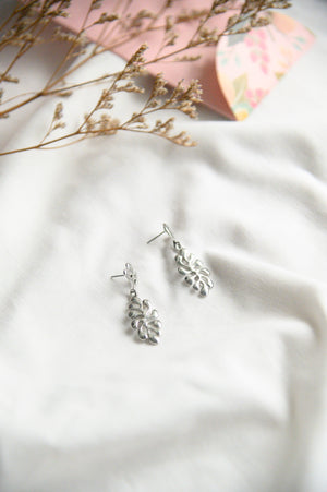 Lilo Leaves Drops in silver